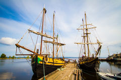 The old ships in Petrozavodsk Royalty Free Stock Photos