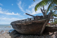 An old shipwreck or abandoned shipwreck Stock Photography