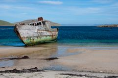 Old shipwreck on the Beach in Antarctica Stock Photos