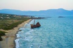 Old Shipwreck near Gytheio Stock Image