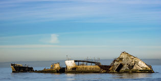 Shipwrecked. Old Shipwrecked in aptos california Stock Image
