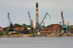 Old shipyard Royalty Free Stock Photos