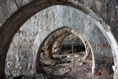 Old shipyard in  Alanya. Royalty Free Stock Images