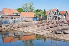 Old shipyard in the Netherlands Stock Images