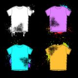 Old shirt retro design collection Royalty Free Stock Images