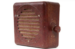 Old shockproof heavy radio Stock Images