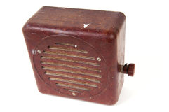 Old shockproof heavy radio Royalty Free Stock Photo