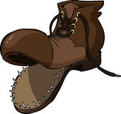 Old shoe. On a white background, vector Royalty Free Stock Images