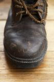 Old shoe in close up Stock Photography
