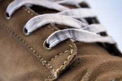 Old shoe and lace Royalty Free Stock Image