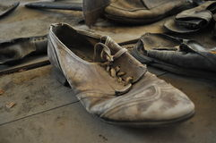 Old Shoe. From mining ghost town in Garnet,, MT Royalty Free Stock Image