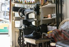 Free Old Shoe Repair Shop Royalty Free Stock Photo - 100348645