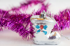 Old shoe shaped christmas bauble Royalty Free Stock Photos