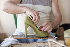 Old shoemaker Royalty Free Stock Photo