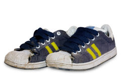 Old shoes . Old shoes on white background Stock Image