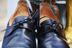 Old shoes background Royalty Free Stock Images