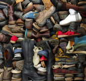 Old shoes backgrounds Stock Photos