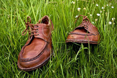 Old leather shoes  Royalty Free Stock Photo