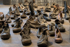 Old shoes. Shoes of people that were encased in Buchenwald Stock Photography