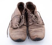 Old shoes  on white background Stock Images