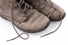Old shoes  on white background Stock Photography