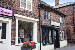 Old Shop Buildings in the market town of Sandbach England Stock Image