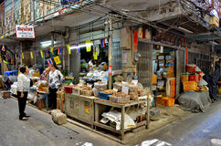 Old shop in Chinatown Bangkok royalty free stock images