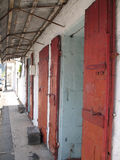 Old shop in port louis. Perspective view of a little shop in port louis Royalty Free Stock Photography