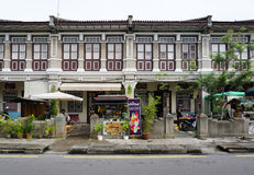 Old shophouse building on the street in the world heritage Georg Stock Image
