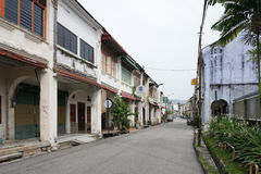 Old shophouse building on the street in the world heritage Georg Stock Photo