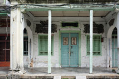 Old shophouse building on the street in the world heritage Georg Royalty Free Stock Images