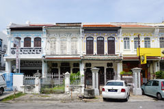 Old shophouse building on the street in the world heritage Georg Royalty Free Stock Photography