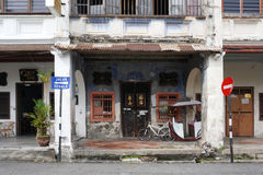 Old shophouse building on the street in the world heritage Georg Stock Images
