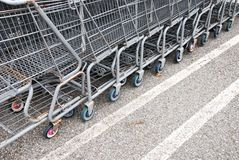 Old shopping carts Stock Photography