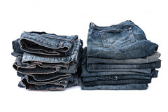 Old short jean isolated Stock Images