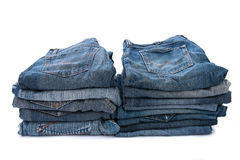 Old short jean isolated Stock Photo