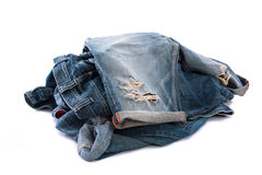 Old short jean isolated Royalty Free Stock Images