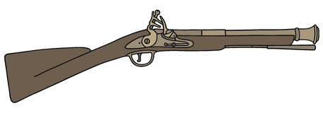 Old short rifle Stock Photo