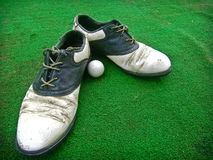 Old shose golf Stock Photo
