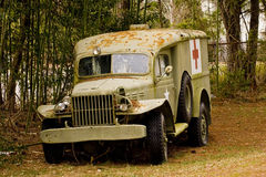 Old Shot Up Medic Truck Stock Photos