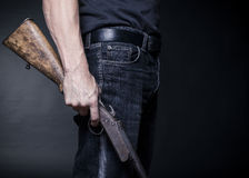 Old shotgun Royalty Free Stock Photo