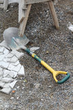 Old shovel lain Royalty Free Stock Photography