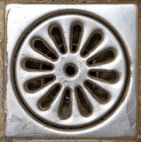 Old shower drain Stock Images