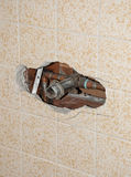 Old Shower Pipes Stock Photography