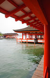 Old Shrine at miyajima prefecture Stock Photos