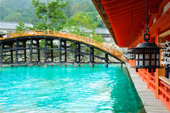 Old Shrine at miyajima prefecture Royalty Free Stock Photography