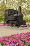 Old Shunter, China Railway Museum. An old shunter, looks like an oil burner, has pride of place outside the China Railway Museum, Chaoyang branch, surrounded by Royalty Free Stock Images