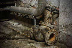 Old shut-off valve Royalty Free Stock Image