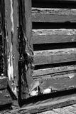Old shutter. Aging window shutter splintered wood Stock Image