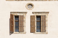 Old shuttered window in jerusalem israel Royalty Free Stock Images